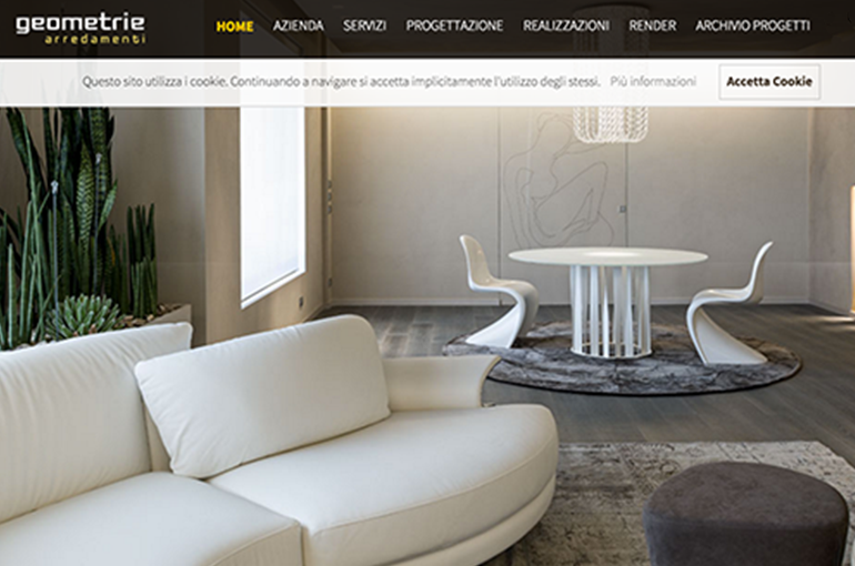Website Geometrie arredamento
