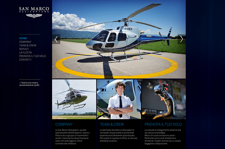 Website San Marco Helicopters