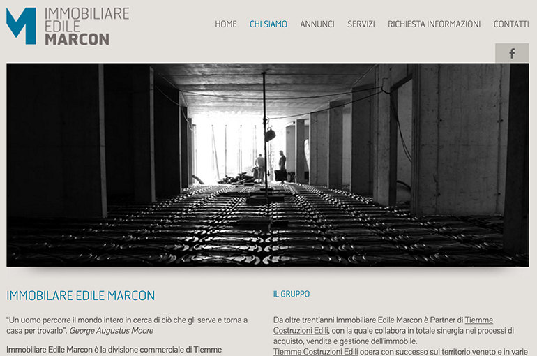 Website Immobiliare Edile Marcon