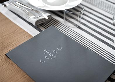 Crudo Restaurant menu design